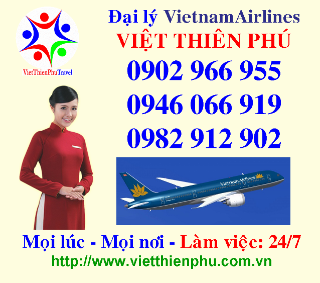 vietnamairlines, ve may bay, viet thien phu, ve may bay viet thien phu